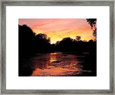 Framed Print featuring the photograph Sunset Near Rosemere - Qc by Juergen Weiss