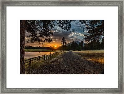 Sunset Near Sisters Oregon Framed Print