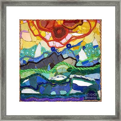 Sunset Framed Print by Nicola Scott-Taylor