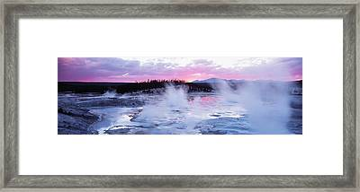 Sunset, Norris Geyser Basin, Wyoming Framed Print by Panoramic Images