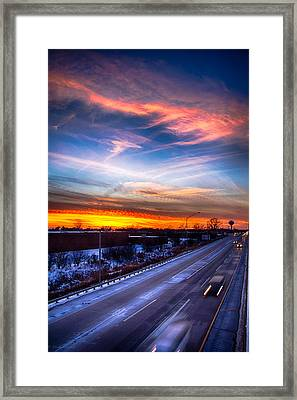 Sunset North Of Chicago 12-12-13 Framed Print