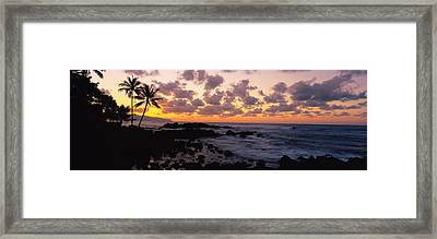 Sunset North Shore, Oahu, Hawaii Framed Print