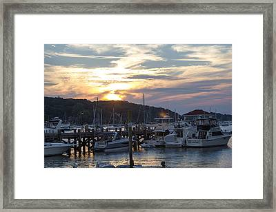 Sunset Northport Dock Framed Print