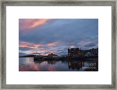 Sunset Oban Scotland Framed Print