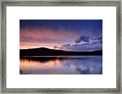 Sunset Of Fire And Ice Framed Print by Rich Rauenzahn