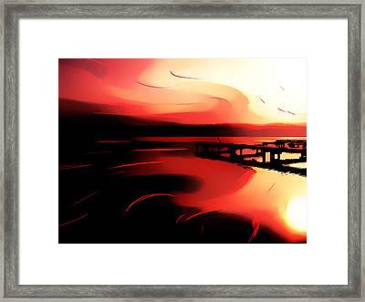 Sunset Of Fire Framed Print