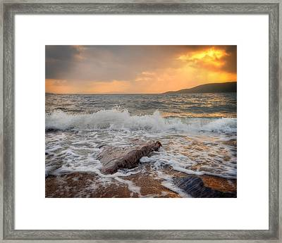 Sunset Of Firth Of Lorn Framed Print