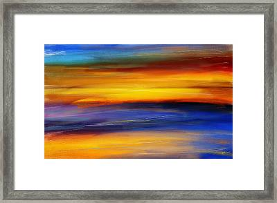Sunset Of Light Framed Print by Lourry Legarde