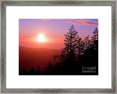 Sunset Off Mt Erie Washington Art Prints Framed Print