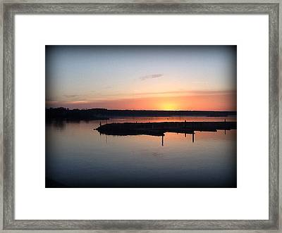 Sunset Off Old Steel Bridge  Framed Print