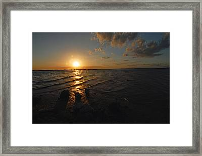 Framed Print featuring the photograph Sunset Olivia Texas by Susan D Moody
