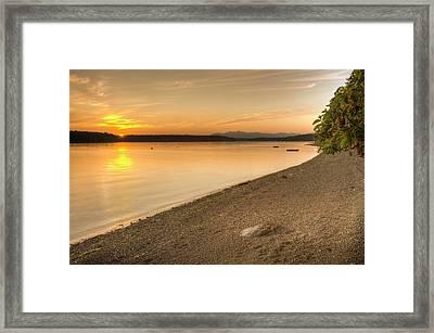 Sunset Olympic Peninsula, Washington Framed Print