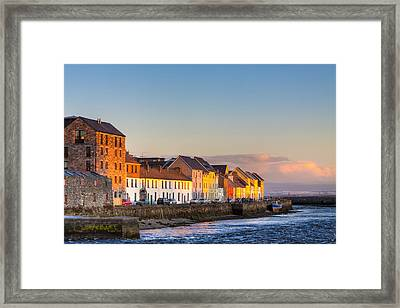 Sunset On A Beautiful Winter Day In Galway Ireland Framed Print