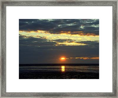 Sunset On A Cloudy Evening Framed Print
