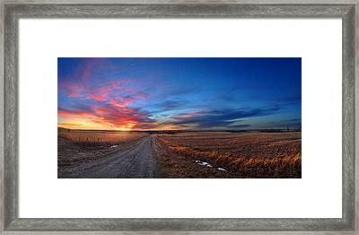 Sunset On Aa Road Framed Print