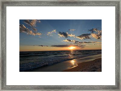 Sunset On Alys Beach Framed Print