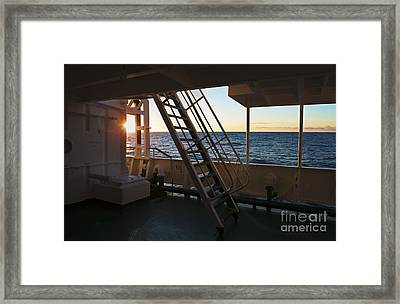 Sunset On Antarctic Waters... Framed Print by Nina Stavlund