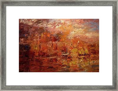 Sunset On Atlantis Framed Print by R W Goetting