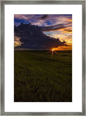 Sunset On Bridge Road Framed Print