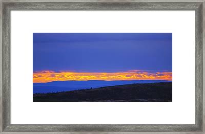 Sunset On Cadillac Mountain Acadia National Park Framed Print