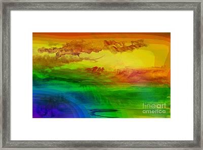 Sunset On Calistro Framed Print