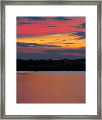 Sunset On Casco Bay Maine Framed Print by Patricia E Sundik