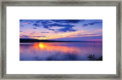 Sunset On Cayuga Lake Iv Ithaca New York Framed Print by Paul Ge
