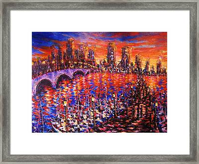 Sunset On Clematis Framed Print
