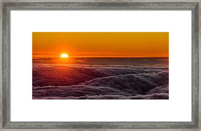 Sunset On Cloud City 1 Framed Print