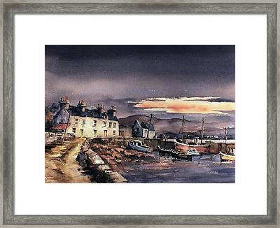 Sunset On Coraun Harbour Mayo Framed Print