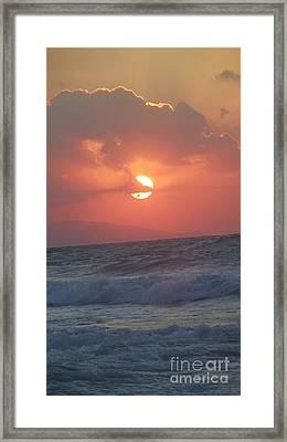 Sunset On Crete Framed Print
