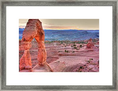 Sunset On Delicate Arch Framed Print