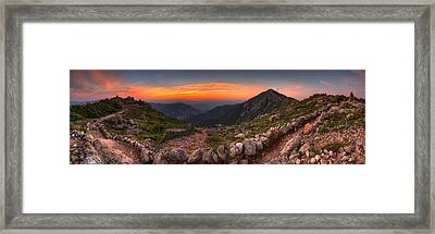Sunset On Franconia Ridge Framed Print