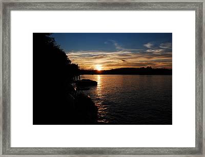 Sunset On Halfmoon Framed Print by Mim White