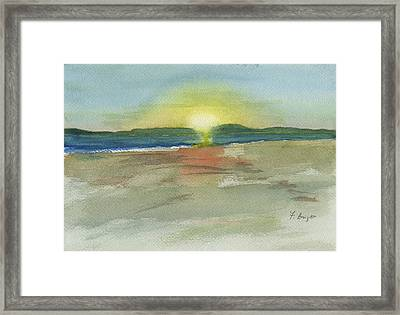 Sunset On Hilton Head Island Framed Print by Frank Bright
