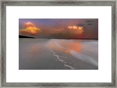 Sunset On Hilton Head Island Framed Print by Peter Lakomy