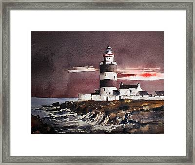 Sunset On Hook Head Wexford Framed Print