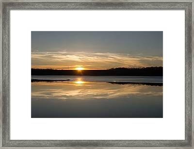 Sunset On Ice Framed Print by Diana Boyd