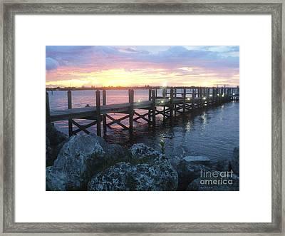 Sunset On Indian River Framed Print by Megan Dirsa-DuBois