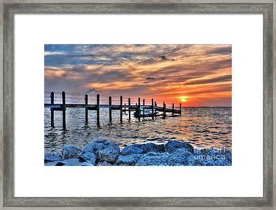 Sunset On Islamorada 2 Framed Print by Mel Steinhauer