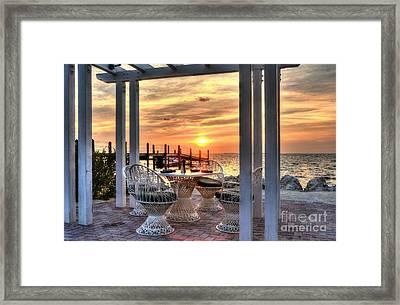 Sunset On Islamorada 3 Framed Print by Mel Steinhauer