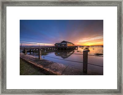 Sunset On Jekyll Island Framed Print by Debra and Dave Vanderlaan