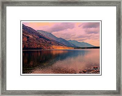 Sunset On Jenny Lake Framed Print