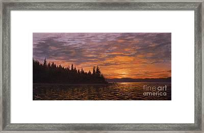 Sunset On Kayak Point Framed Print