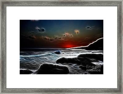 Sunset On La Palma Framed Print