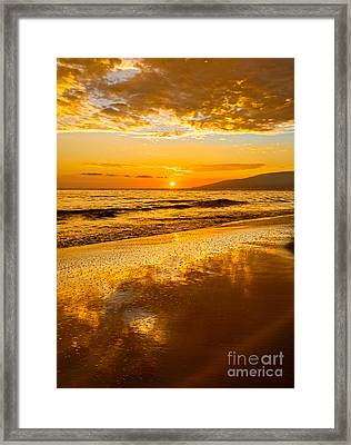 Sunset On Lahaina Framed Print by Jamie Pham