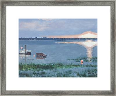 Sunset On Lake Champlain Framed Print