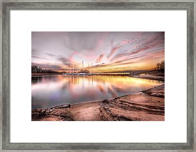 Sunset On Lake Hartwell Framed Print
