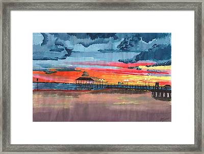Sunset On Lake Jackson Framed Print