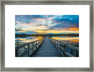Sunset On Lake Sixteen Framed Print